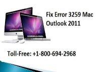 How To Fix Error 3259 Mac Outlook 2011? Call 1-800-608-5461