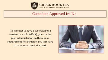 IRA LLC  Real Estate | CheckBook IRA LLC