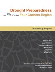Drought Preparedness for Tribes in the Four ... - US Drought Portal