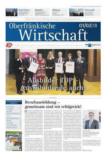 Oberfränkische Wirtschaft Ausgabe 01.2018