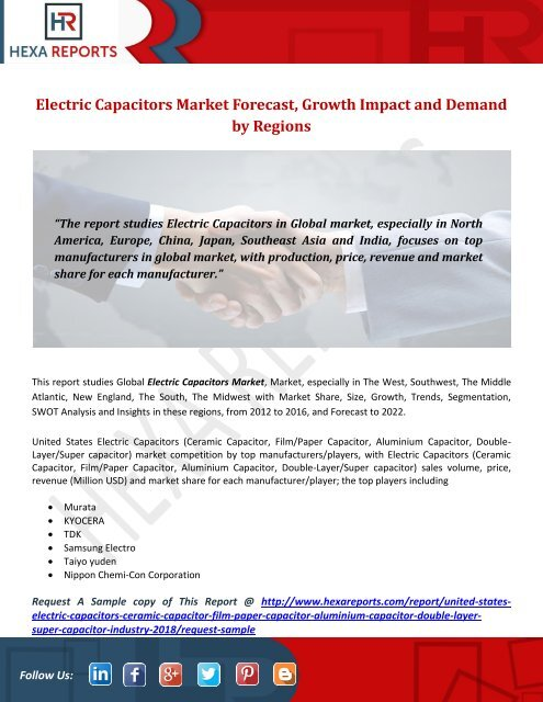 Electric Capacitors Market Forecast, Growth Impact and