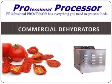 Points to Check before Buying a Commercial Dehydrator Online