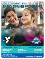 2018 Lionville Early Spring Program Guide