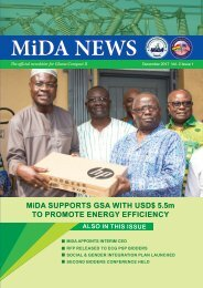 MiDA Newsletter December 2017 Vol. 2 Issue 1