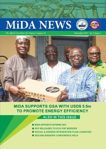 MiDA Newsletter December 2017 Vol. 2 Issue 1