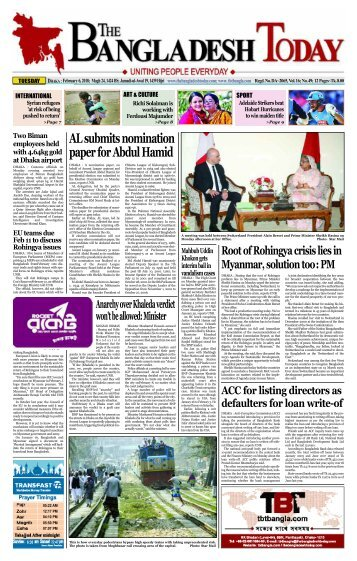 The Bangladesh Today (06-02-2018)