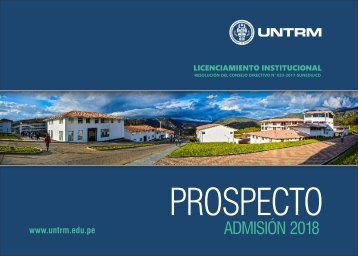 PROSPECTO UNTRM 2018 - I