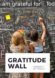 The Gratitude Wall Community Art Project