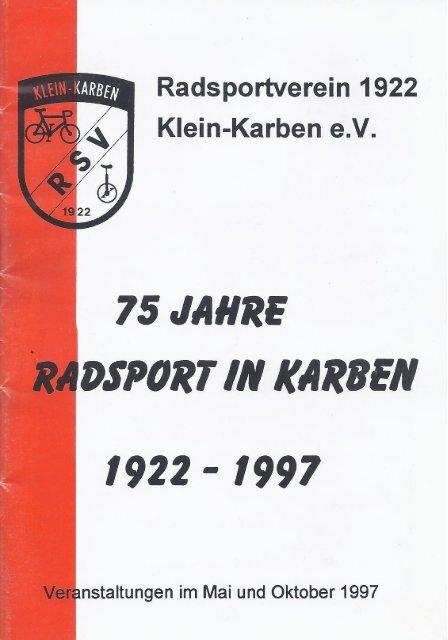 Festschrift 75 Jahre RSV 1922 Klein-Karben e.V.