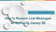 How to Restore Lost Messages on Samsung Galaxy S8S8 Plus