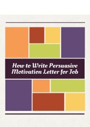 How to Write Persuasive Motivation Letter for Job