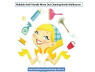 Reliable And Friendly Move Out Cleaning North Melbourne