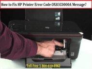 How to Fix HP Printer Error Code OX83C0000A Message