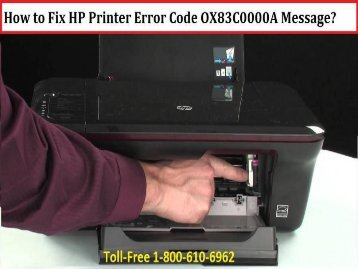 How to Fix HP Printer Error Code OX83C0000A Message