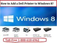 Install a Dell Printer to Windows 8? CALL +1-800-213-8289
