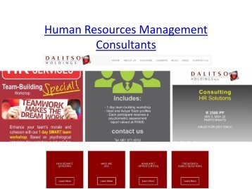 Human Resources Management Consultants