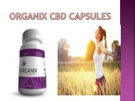 Organix CBD Capsules - Feel Refresh & Energetic