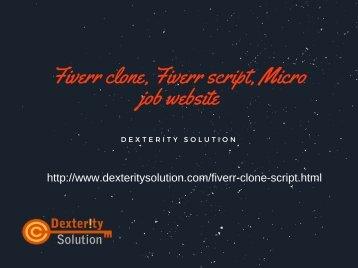 Fiverr clone, Fiverr script, Micro job website