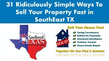 31_Ways_To_Sell_Your_Property_Fast_in_SouthEast_Texas
