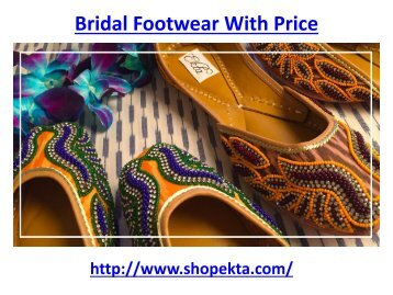 Bridal Footwear With Price
