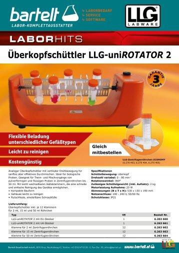 LLG uniROTATOR 2 - Überkopfschüttler - Bartelt - Probenmischung