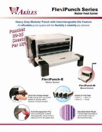Akiles FlexiPunch-E &M Modular Punches Machines - PrintFinish.com