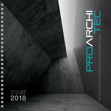 pro ArchiTec - Ausgabe Frühjahr 2018