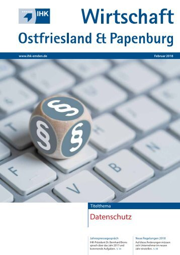 IHK Wirtschaft Ostfriesland & Papenburg Februar 2018