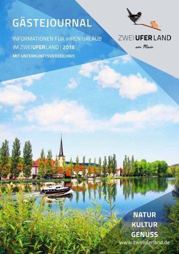 Gästejournal 2018 - Natur, Kultur, Genuss im ZweiUferLand am Main
