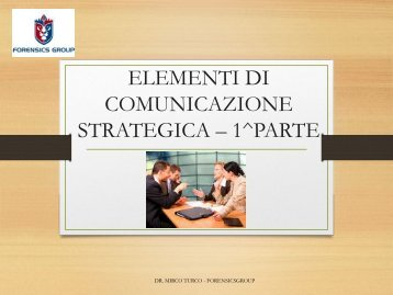 2 ELEMENTI DI COMUNICAZIONE STRATEGICA – 1^PARTE (1)