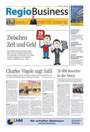 RegioBusiness - Nr. 188 | 2018-02