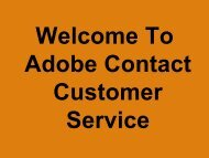 Get Help, with Adobe Contact Service Phone Number