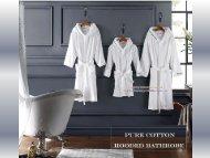 Luxury velvet pile hooded bathrobe