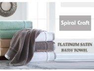 Luxury pure cotton bath towel
