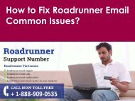Roadrunner Email Common Issues Call 1-888-909-0535 Roadrunner Support Number