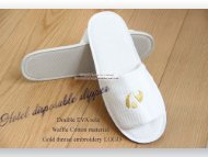 Luxury waffle slipper with embroidery logo