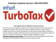 Turbotax Technical Support  Number 1-844-819-8493