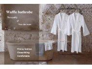 Luxury waffle bathrobe--Sweetheart range,