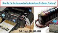 1-800-213-8289 how to fix Continuous Ink Systems Issue On Epson Printers