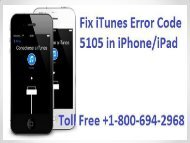 How To Fix iTunes Error Code 5105 in iPhone/iPad? 1-800-694-2968   Toll Free