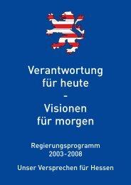 Regierungsprogramm 2003 - Ravensburg, Claudia (MdL)
