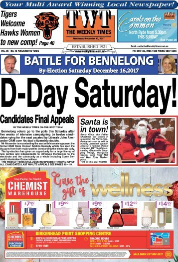 The Weekly Times - 13th December, 2017