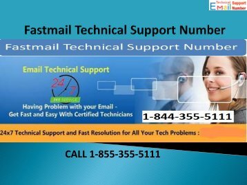 1-844-355-5111 Fastmail Technical Support Number