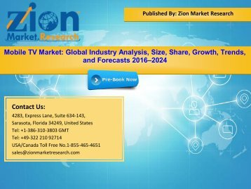 Global Mobile TV Market, 2016–2024