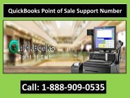 QuickBooks Point of Sale Support 1-888-909-0535 Phone Number