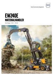 Volvo Mobilbagger EW240E MH Datenblatt - Produktbeschreibung