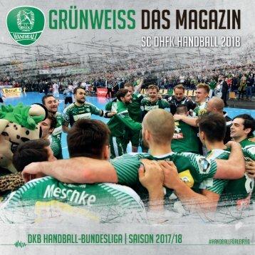 GRÜNWEISS - SC DHfK Leipzig - Magazin zum Neujahrsauftakt 2018