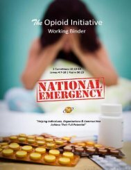 The Advocacy Foundation Opioid Initiative Project Manual