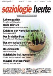 soziologie heute August 2014