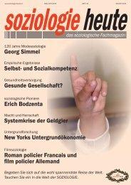soziologie heute August 2015